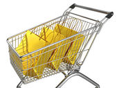 Shopping cart isolated on white background — Stock Photo