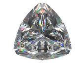 Diamant geïsoleerd op witte achtergrond — Stockfoto