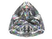 Diamante aislado sobre fondo blanco — Foto de Stock