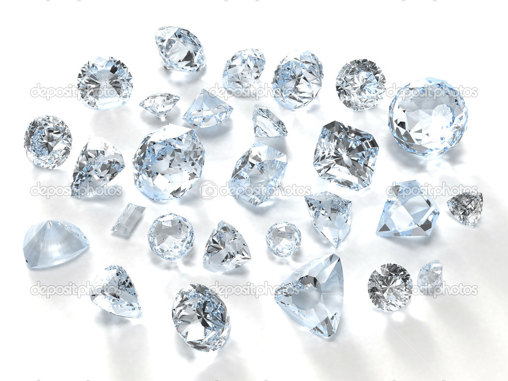 Diamonds isolated on white — Stock Photo #1005626