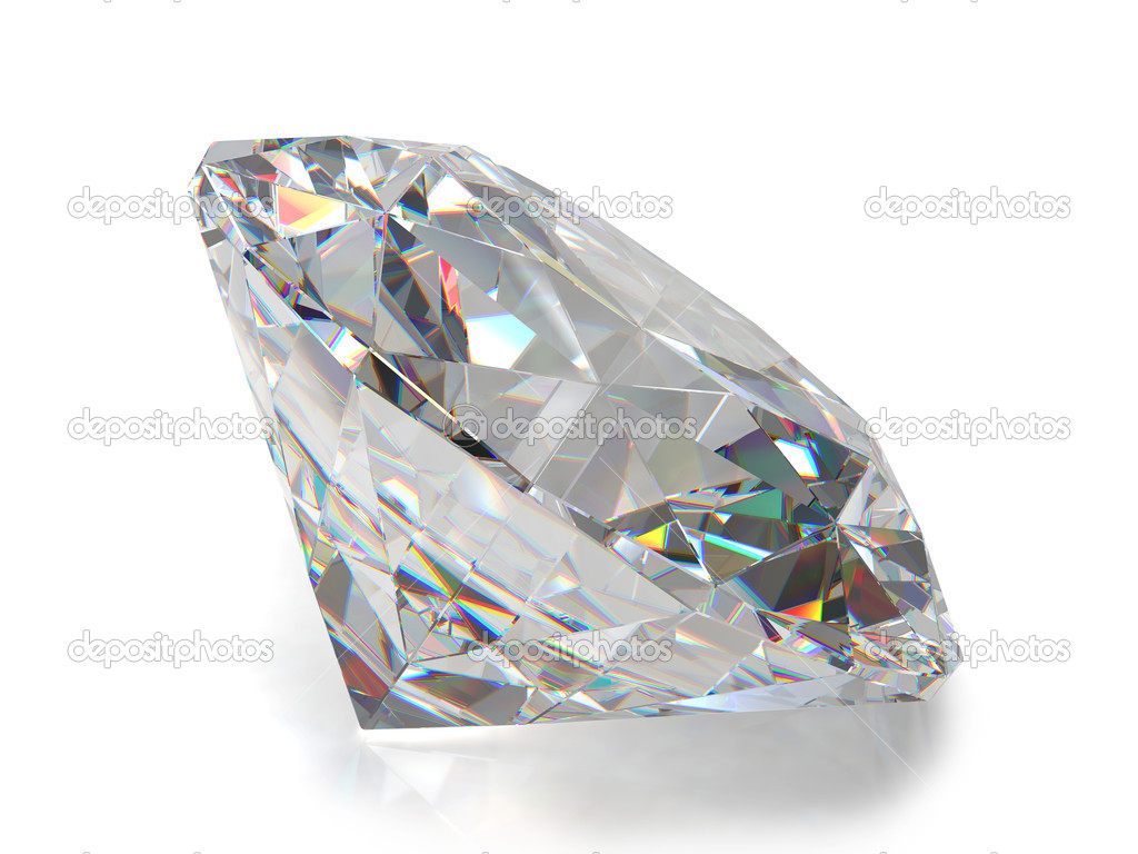 Diamond isolated on white — Stock Photo #1005652
