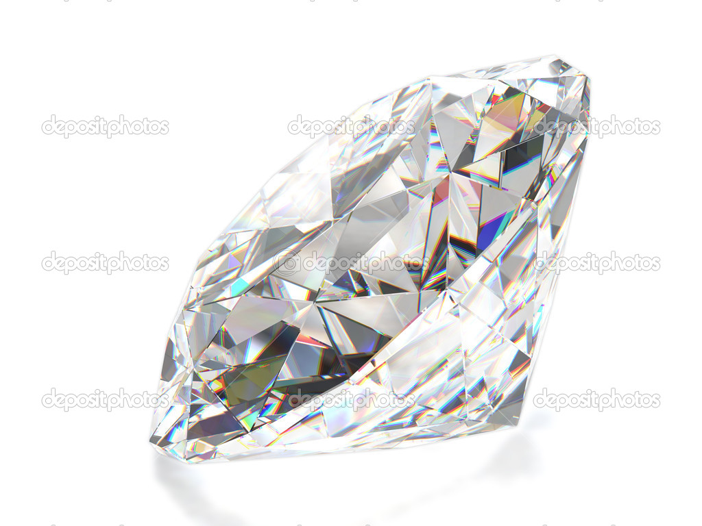 Diamond isolated on white — 图库照片 #1005701