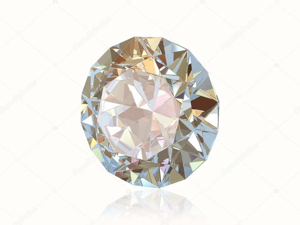 Diamond isolated on white background — Foto Stock #1005707