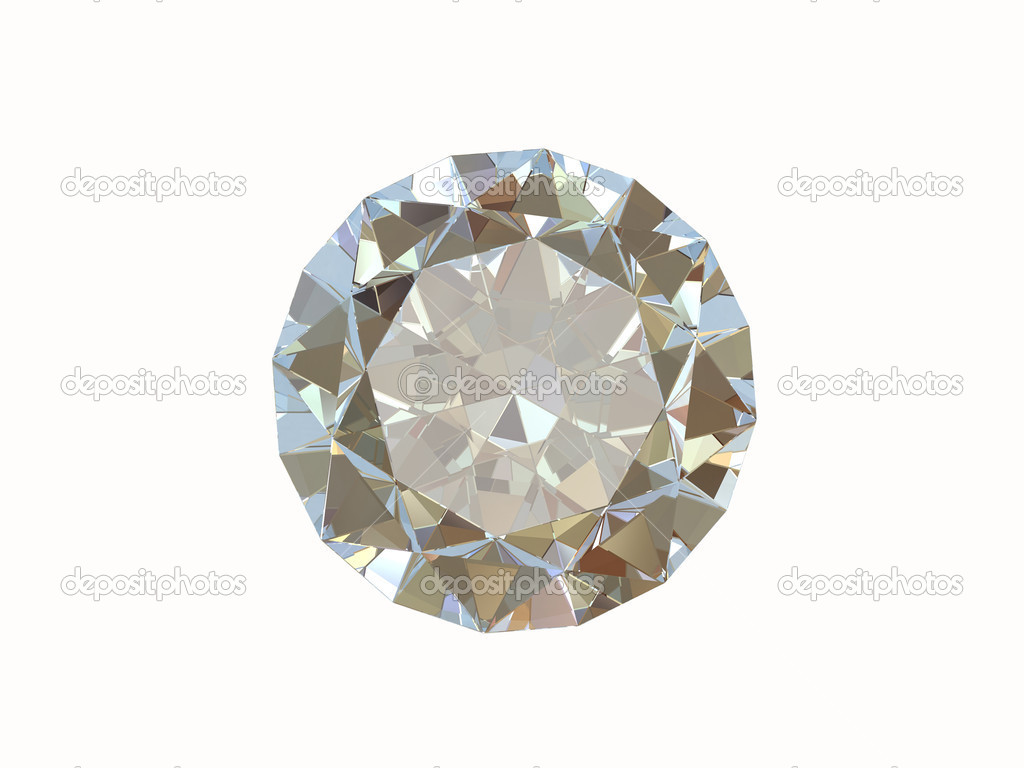 Diamond isolated on white — Stock Photo #1005708