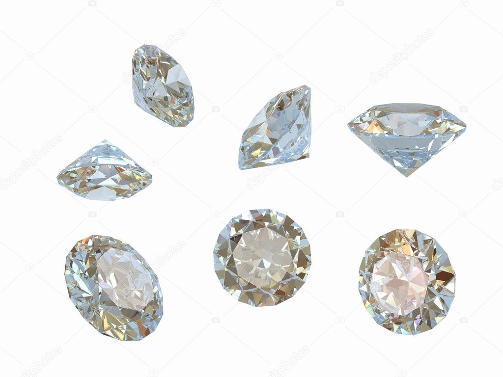 Diamonds isolated on white — Stock Photo #1005711