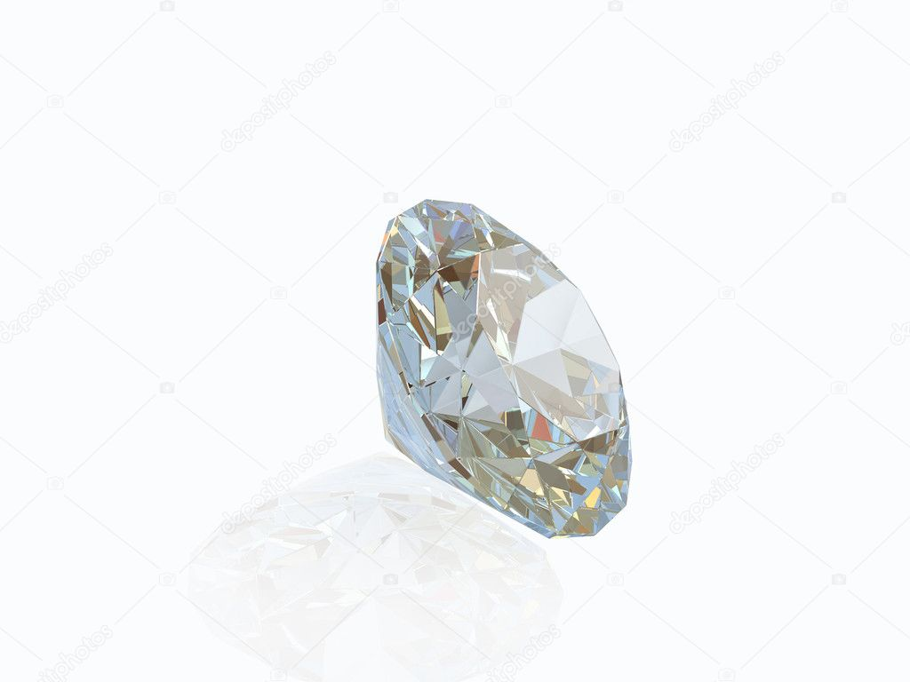 Diamond isolated on white background  Stock Photo #1005718