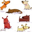 Dogs - Imagen vectorial