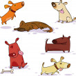Vector de stock : Dogs