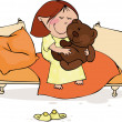 Royalty-Free Stock Imagen vectorial: Sleepy kids