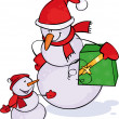 Royalty-Free Stock Vektorgrafik: Snowmen
