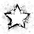 Royalty-Free Stock Imagen vectorial: Black star