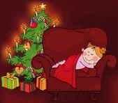 圣诞节的时候 — 图库矢量图片