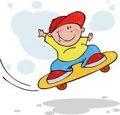 Cool jumping skateboarder, vector illustration — Stock Vector