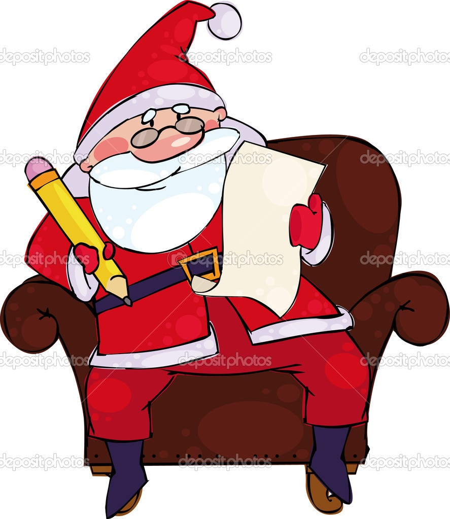 Vector Christmas illustration with Santa — Stock Vector #1005803