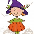 Funny halloween girl — Stock Vector #1011097
