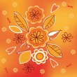 Orange Bouquet — Stock Vector