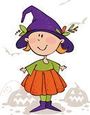 Funny halloween girl — Stock Vector
