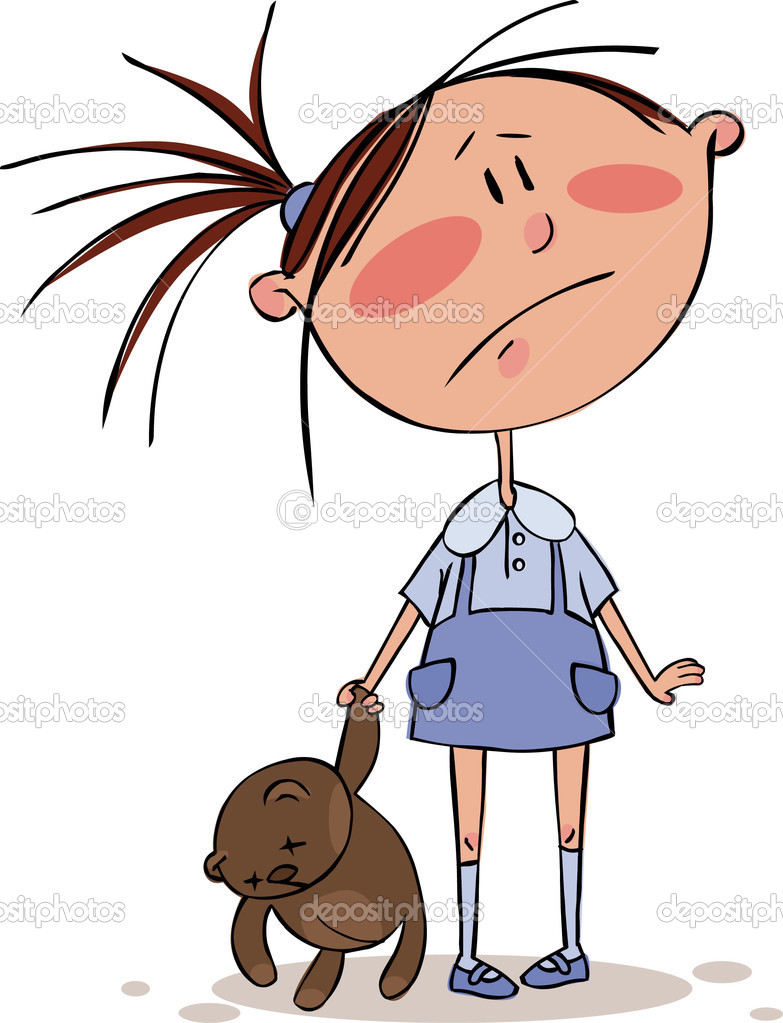 Sad girl — Stock Vector © Gorelova #1011093