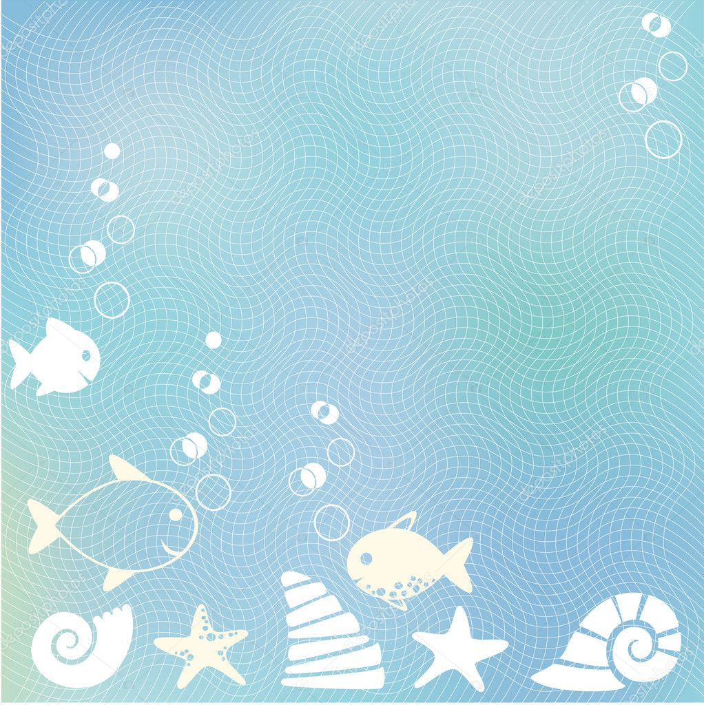 Sea blue background with bubbles — Stock Vector #1011304