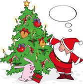 Santa und bunny — Stockvektor