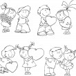 Valentine kids - Stockvectorbeeld