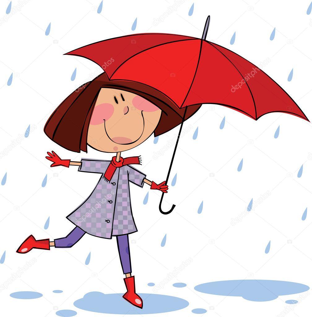 Camminare sotto la pioggia vettoriali stock gorelova for Piani di fattoria sotto 2000 piedi quadrati