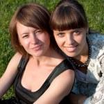 dos niñas sonrientes — Foto de Stock