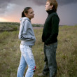 Royalty-Free Stock Photo: Young couple before a storm