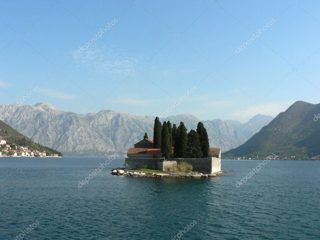 Saint George Island in Montenegro  Stock Photo #1236402