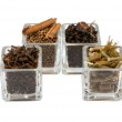 Spices in glass isolated — Stock Photo