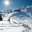 Winter mountainous landscape — Stockfoto