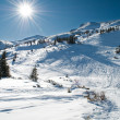 winter bergachtige landschap — Stockfoto