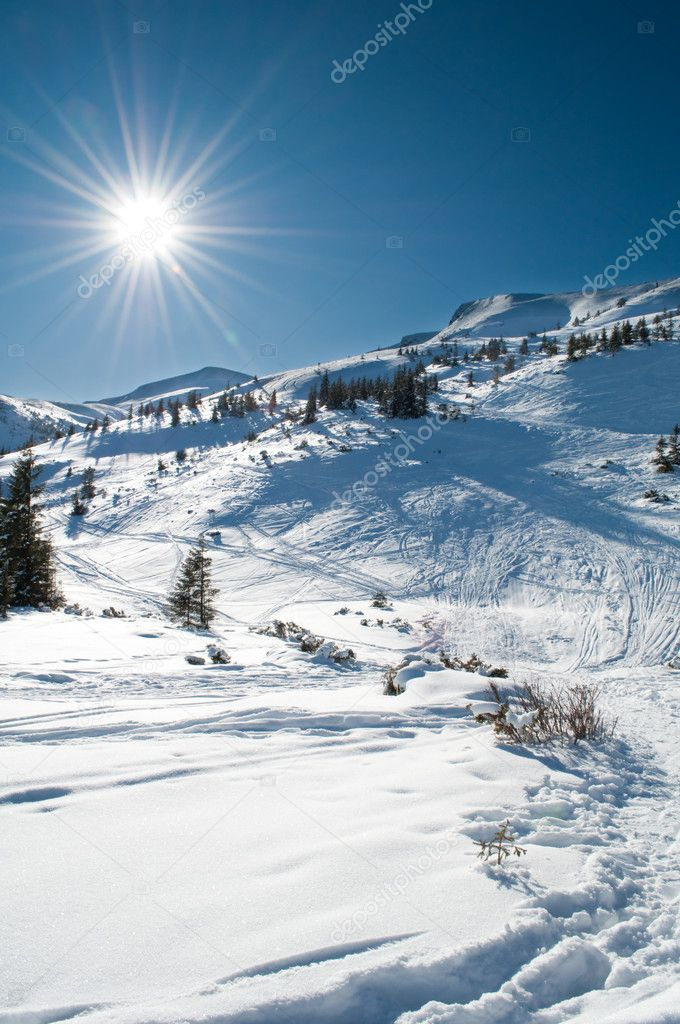 Beautiful winter mountainous landscape  Stock Photo #2186512