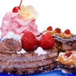 Fancy cake(clipping path included) - Stock Photo