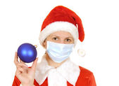 Santa claus in a gauze bandage — Stock Photo