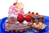 Fancy cake(clipping path included) — Stock Photo
