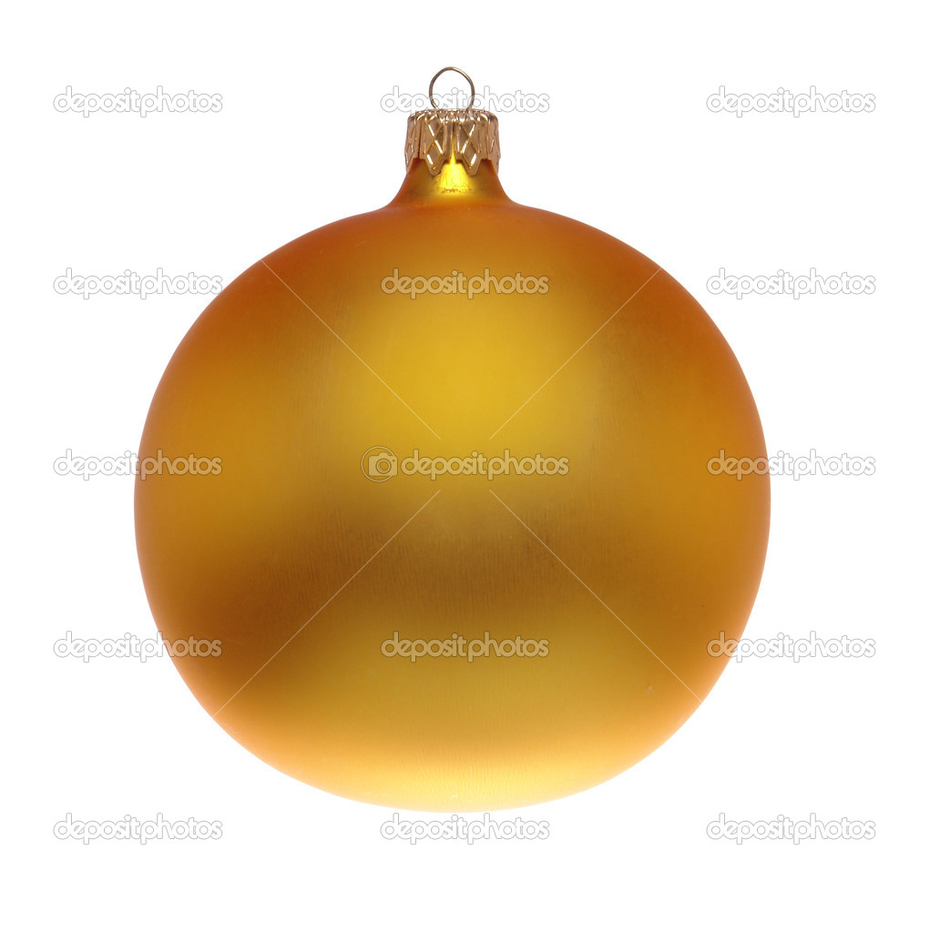 Yellow christmas decoration isolated on white background                                  Stock Photo #1006441
