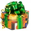Gift box(clipping path included) — Stock Photo