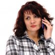 Stock Photo: Womwith telephone