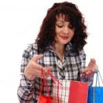 Girl with buying — Stock Photo