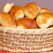 Bun in basket — Stock Photo