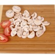 Royalty-Free Stock Photo: Mushrooms on chopping board