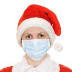 Santa claus in a gauze bandage — Stock Photo