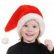 The child in a hat santa claus — Stock Photo