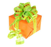 Orange gift box — Stock Photo