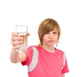 Teenager to drink water — Stock Photo