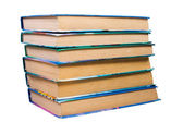 Old books(clipping path included) — Stock Photo