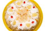 Cake with cream — Stock Photo