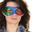 Stock Photo: Woman in mask
