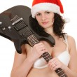 Royalty-Free Stock Photo: Santa claus with guitar